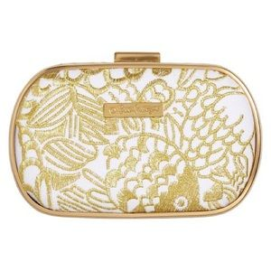 Lilly Pulitzer for Target Gold & White Clutch Bag